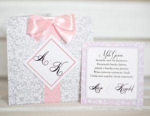 zestaw zaproszenie rustykalne i karteczka