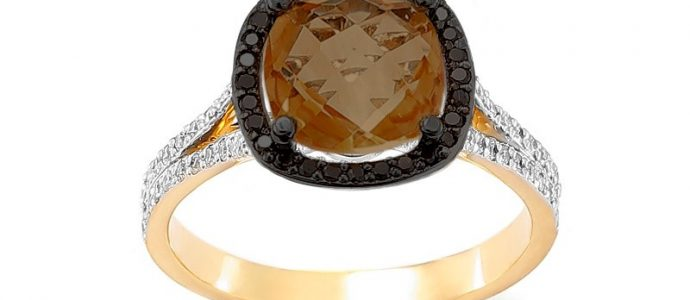 Wybór ilości kamieni w pierścionku zaręczynowym z kwarcem dymnym